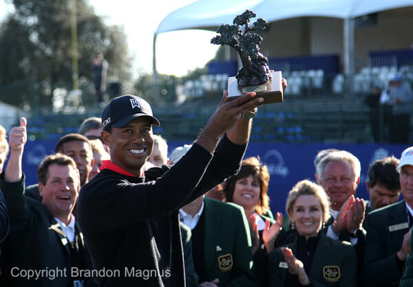 Tiger Woods Torrey Pines Farmers Insurance Open Trophy