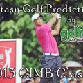 Fantasy Golf Predictions - 2013 CIMB Classic