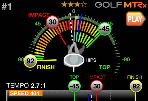 Golf MTRx Zeroline Golf Swing App