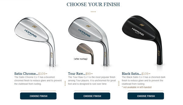 Hopkins Wedges Review Choose Your Finish