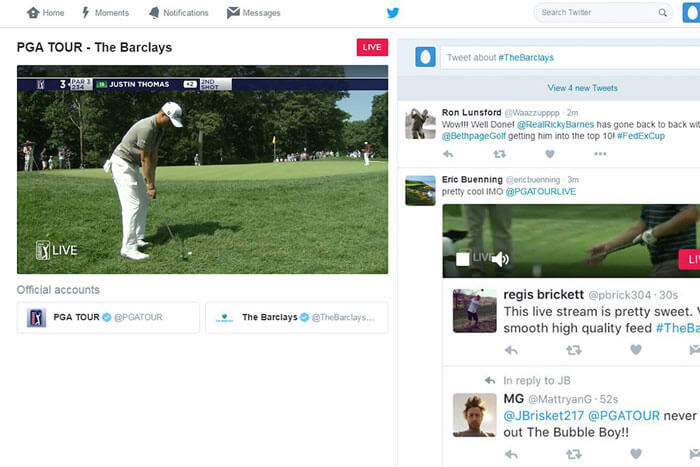 pga tour announces live streaming deal with twitter