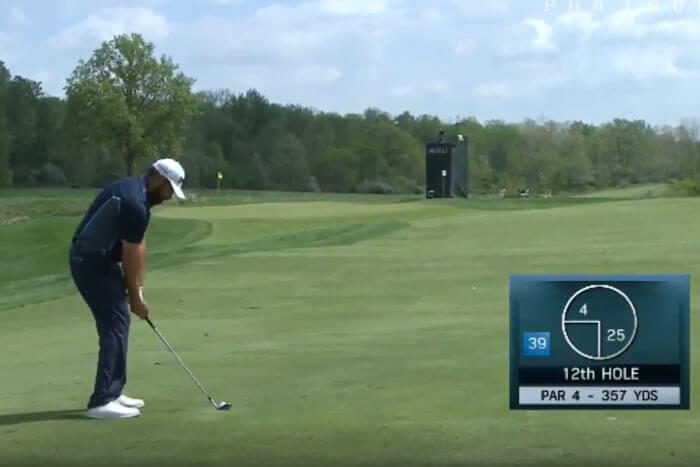 WATCH Web com Tour Player Bounces Ball OUT of Hole
