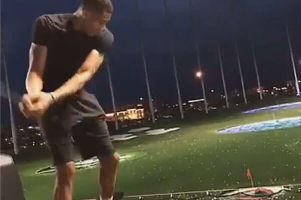 The Greek Freak Tries Hand at Golf