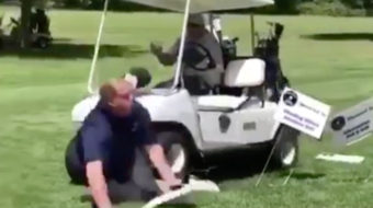 Running Your Buddies Over with a Golf Cart is Fun Until Someone Snaps a Leg