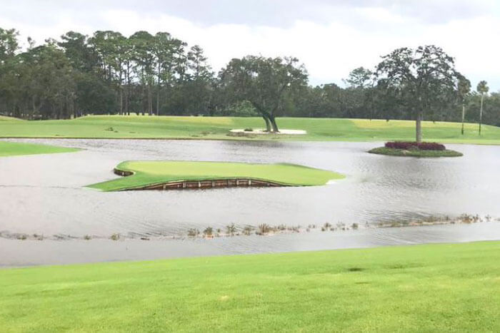Hurricane-Irma-Leaves-TPC-Sawgrass-No-17-Island-Green-Partially-Submerged