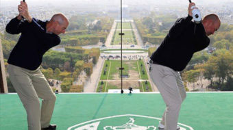 Jim Furyk, Thomas Bjorn Recreate Arnold Palmer's Famous Eiffel Tower Shot