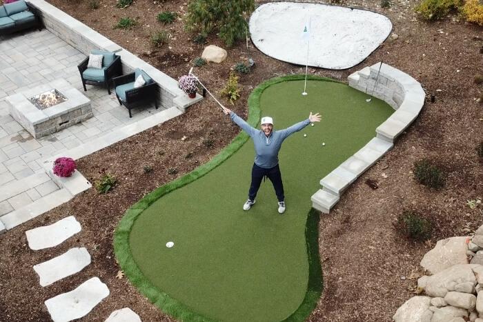 Golfer S Dream Backyard Renovation My Home Putting Green